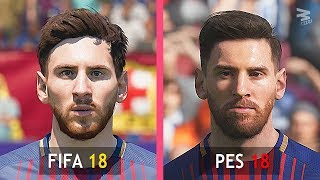 Video FIFA 18 Vs PES 18: Barcelona Faces Comparison MP3, 3GP, MP4, WEBM, AVI, FLV November 2017