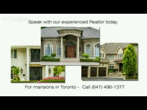 For Manions for Sale in the Greater Toronto Area Call (647) 496-1377