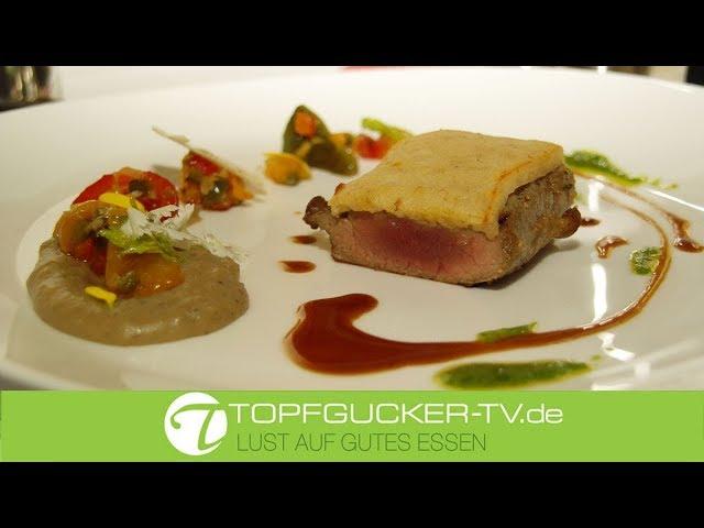 Rosa gebratenes Lammfilet mit Kruste aus Ziegenkäse   Topfgucker-TV