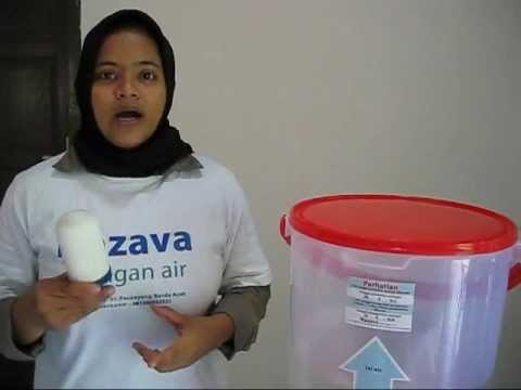 bagaimana menggunakan saringan air nazava cara pasang filter air 2