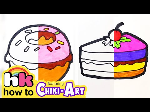 Chiki Art | Glitter Burger to Learn Colors For Kids | How To Draw & Paint | HooplaKidz How To