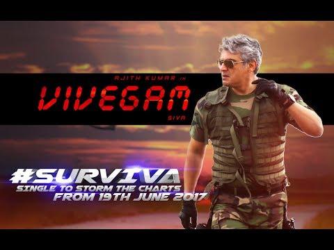 Vivegam – Surviva Song Teaser | Ajith Kumar | Anirudh Ravichander | Siva