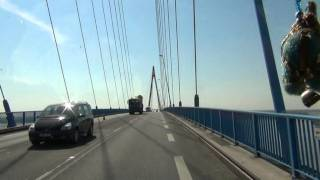 Saint-Nazaire France  city pictures gallery : Drive over the brigde of St-Nazaire, France