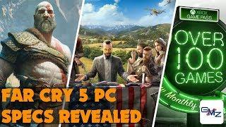 Far Cry 5 PC Specs + God of War Release Date + Steam Luna Sale Date