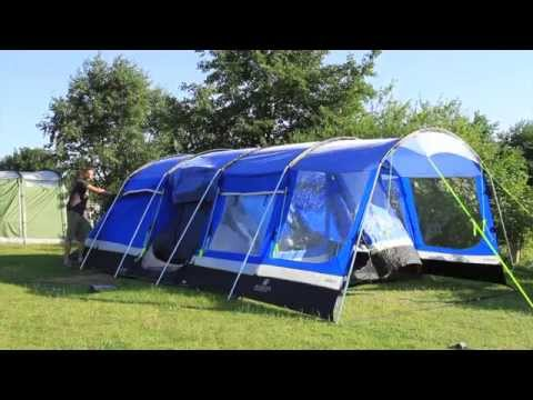 How to pitch a large family tent
