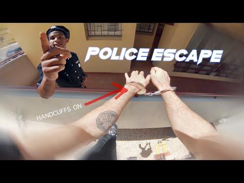 Police escape in handcuffs - Parkour POV