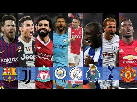 UEFA CHAMPIONS LEAGUE | Teams That Qualified For The Quarter Finals And Their Key Players