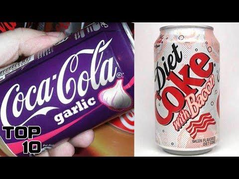 Top 10 Weirdest Coca-Cola Flavors From Around The World (видео)
