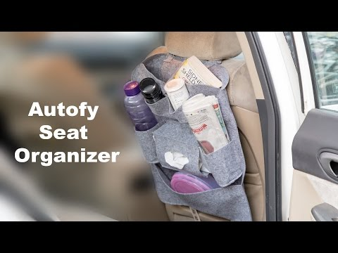 Autofy Universal Seat Back Organizer for All Cars with Utility and Installation Guide