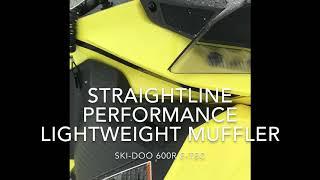 10. 600R E-tec lightweight muffler by Straightline Performance
