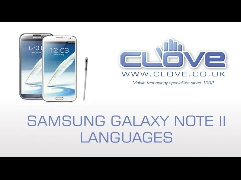 Samsung Galaxy Note II (Note 2) GT-N7100 Languages