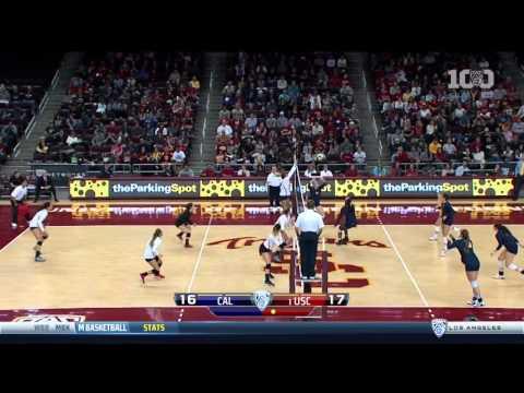 Women's Volleyball: USC 3, California 0 - Highlights (11/27/15)