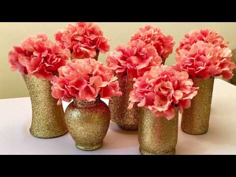 Diy Gold Glitter Vases Centerpieces 260 Mb Wallpaper