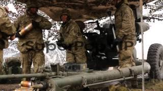 Otterburn United Kingdom  city photo : Royal Artillery gunners fire their 105mm light guns durin...