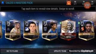CHECK OUT MY NEW CALCIO A MASTER PACK OPENINGENJOYPLEASE SUBSCRIBE AND LIKE