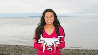 Tara's first time using a drone. She tried her friend's DJI Phantom 3 drone at Semiahmoo Beach, in Blaine, Washington near Whiterock, Canada.Music: Deliberate Thought by Kevin Macleod