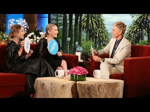 TheEllenShow - Sisters Mary-Kate and Ashley Olsen played a game that revealed a lot about their different personalities. Plus, they told Ellen about their new fragrances!