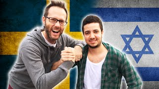 Swedish guy tries to speak Hebrew while a guy from Israel tries to speak Swedish in a language challenge. This is a video in a series where I find foreigners or ...