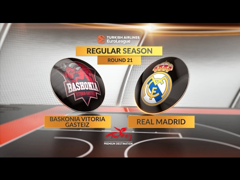 EuroLeague Highlights RS Round 21: Baskonia Vitoria Gasteiz 71-79 Real Madrid