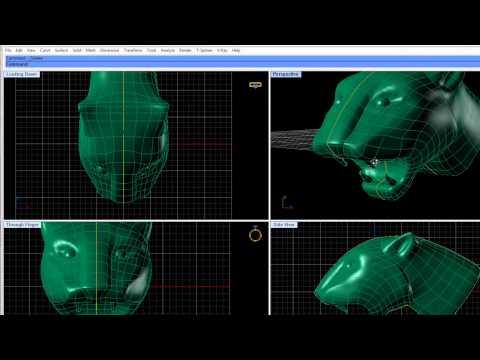 Demonstratie design 3D cu Matrix 7 � T-spline bijuterie pantera