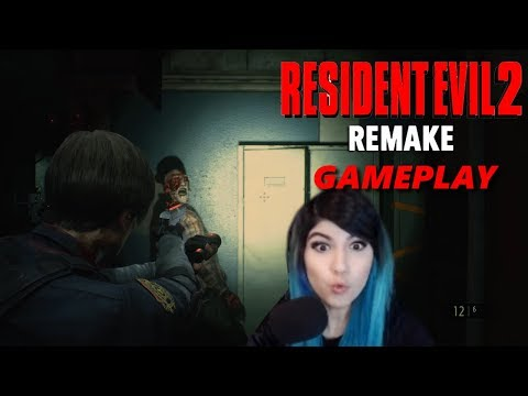 RESIDENT EVIL 2 GAMEPLAY REACTION! // KittyRawr