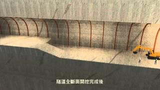 南化水庫防淤隧道工程3D動畫