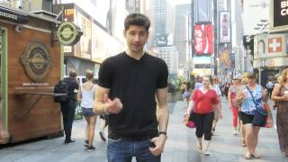 Ben Aaron Gets Naked And Painted In Times Square