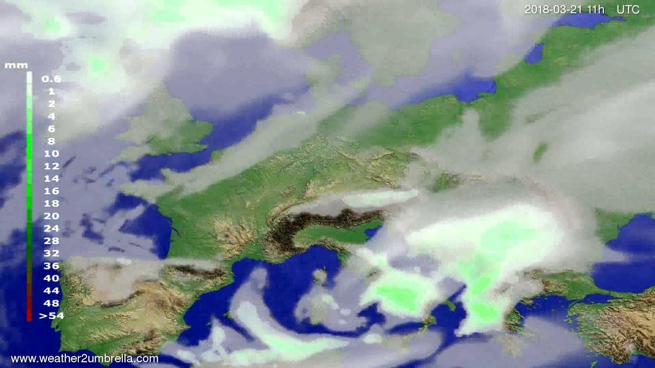 Precipitation forecast Europe 2018-03-18