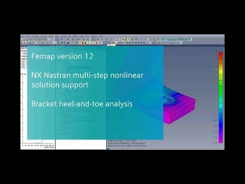 Femap 12 NX Nastran Multi-step Nonlinear Demonstration
