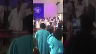 "Brandon Gray singing ""God is"""
