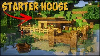 MINECRAFT STARTER HOUSE TUTORIAL! How to Build a Small House in Minecraft ! 2017