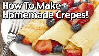 Subscribe to Living On A Dime on YouTube! http://bit.ly/1QDDmbNVisit Our Website: http://www.LivingOnADime.com/Free e-Mail Newsletter: http://bit.ly/1LfQf4yHow To Make Crepes! Quick And Easy Homemade Crepes!In today's show, we''ll be making easy to make crepes! These French style crepes make a great breakfast item but can also be made savory for other meals. They're super versatile and it's easy to adapt them to whatever you're feeling at the moment! Join us for all the fun on today's show!Quick And Easy Crepes Recipe! How To Make Homemade Crepes!http://www.livingonadime.com/quick-easy-homemade-crepes-recipe/Find all of our books, including our Dining On a Dime cookbook here:http://www.livingonadime.com/store/How To Save Money On Groceries e-Coursehttp://www.livingonadime.com/save-money-groceries-bill-ecourse/Today's show is part of The Homestead Networkhttp://www.thehomesteadnetwork.com/Going' Batty is next!https://www.youtube.com/channel/UCfoQW7nSWongxPhFadaQPlQPamela's Gluten Free Flourhttp://amzn.to/2ubWQ2tPlease note some of these links are affiliate links and we use them to bring you more recipes and tips! Thanks for your support! :-)Get my How To Make Soap For Beginners e-Course here:http://www.livingonadime.com/how-to-make-soap-for-beginners/My Homemade Soap Channel - How to Make Soap On A Dimehttp://bit.ly/2m4nOSGBJ's YouTube Channelhttps://www.youtube.com/channel/UC_eboJJ346s-qIcysCTr3tAElly's YouTube Channelhttps://www.youtube.com/channel/UCcLi_6mgUNux0IqoADCd1aAFor More Easy Ideas, Visit Our Website: http://www.LivingOnADime.com/Our mailing address:Living On A DimeP.O. Box 193Mead, CO 80542You can send us an e-mail here:http://www.livingonadime.com/contact/**********************The equipment we use for our videosThe camera: for recipes: http://amzn.to/2azAcGZfor on the go shots: http://amzn.to/2amE3HKfor Live videos: http://amzn.to/2amDVs4The lights: http://amzn.to/2acLdM2The editing software:http://amzn.to/2aHsdYpThe computer: http://amzn.to/2ap7Ik2For Audio: http://amzn.to/2amF82cPlease note some of these links are affiliate links and we use them to bring you more recipes and tips! Thanks for your support! :-)________________________ OUR FREE NEWSLETTER!http://www.livingonadime.com/newsletter-signups/SUBSCRIBE TO OUR YOUTUBE CHANNEL!http://www.youtube.com/subscription_center?add_user=mkellam2OUR FACEBOOK! https://www.facebook.com/livingonadimeOUR PINTEREST! https://www.pinterest.com/livingonadime/#howtomakecrepes#howtomakecrepeseasy#howtomakeplaincrepes#quickeasycrepes#besteasycreperecipe#homemadecrepesfromscratch#easybreakfastcrepes#easycrepebatterrecipe#easycreperecipe#easyfrenchcreperecipe#easyrecipecrepes#quickeasycreperecipe#quickandeasycrepes
