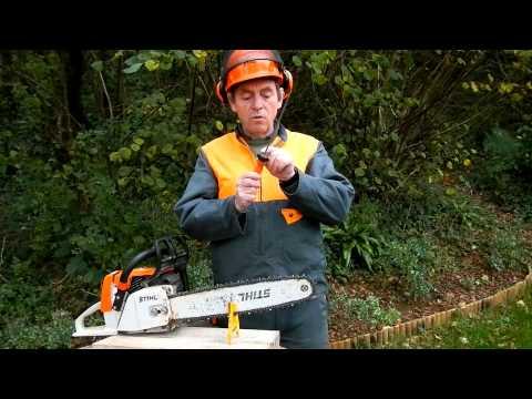 Comment affuter sa chaine de tron onneuse aff tage la lime et au guide ff1 watch the video - Comment affuter une chaine de tronconneuse ...