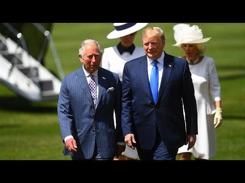 USA / Großbritannien: US-Präsident Trump im Buckingham  ...