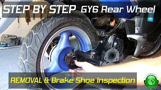 6. STEP BY STEP GY6 Rear Wheel Removal/Brake Inspection