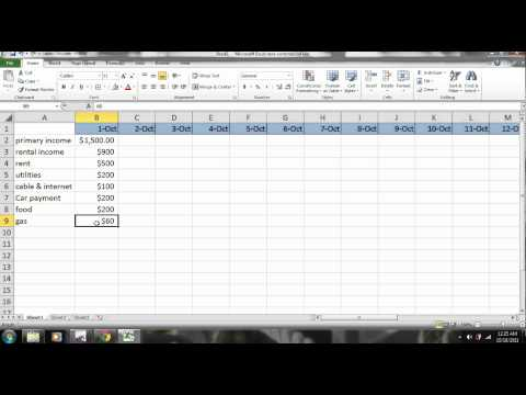 EXCEL - How to Make a Budget - PART 1 -  Personal Finance - TUTORIAL -  www.subjectmoney.com