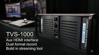 TVS-1000 Trackless Virtual Studio System - AUX Card | Dual format record | Streaming