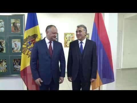 Șeful statului a avut o întrevedere cu vice-președintele Federației de Șah din Armenia