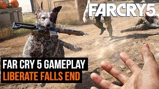 At E3 we got to go hands-on with Far Cry 5. Here's some gameplay from the Liberate Fall's End mission approached in two different ways. Mayhem vs Stealth. For more from GamesRadar Subscribe: http://goo.gl/cnjsn1http://www.gamesradar.comhttp://www.facebook.com/gamesradarhttp://www.twitter.com/gamesradarhttp://www.twitch.tv/gamesradar