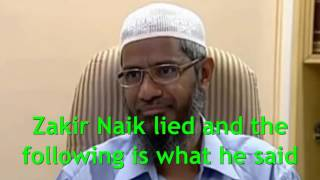 Zakir Naik the Liar Exposed Again