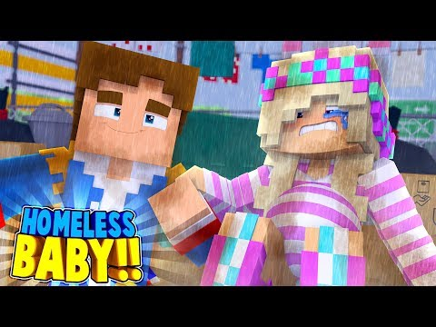Minecraft HOMELESS LEAH IS HAVING OUR BABY!! w/ Little Donny