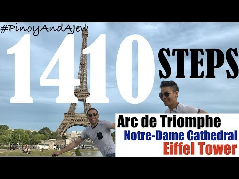 CLIMBING the Arc de Triomphe , Notre-Dame Cathedral & Eiffel Tower