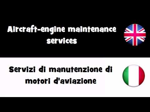 TRANSLATE IN 20 LANGUAGES = Aircraft engine maintenance services