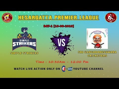 || Hesaraghatta Premier League || DAY-2 ||Sri Gangadeshwara Vs Simple Strikers  ||