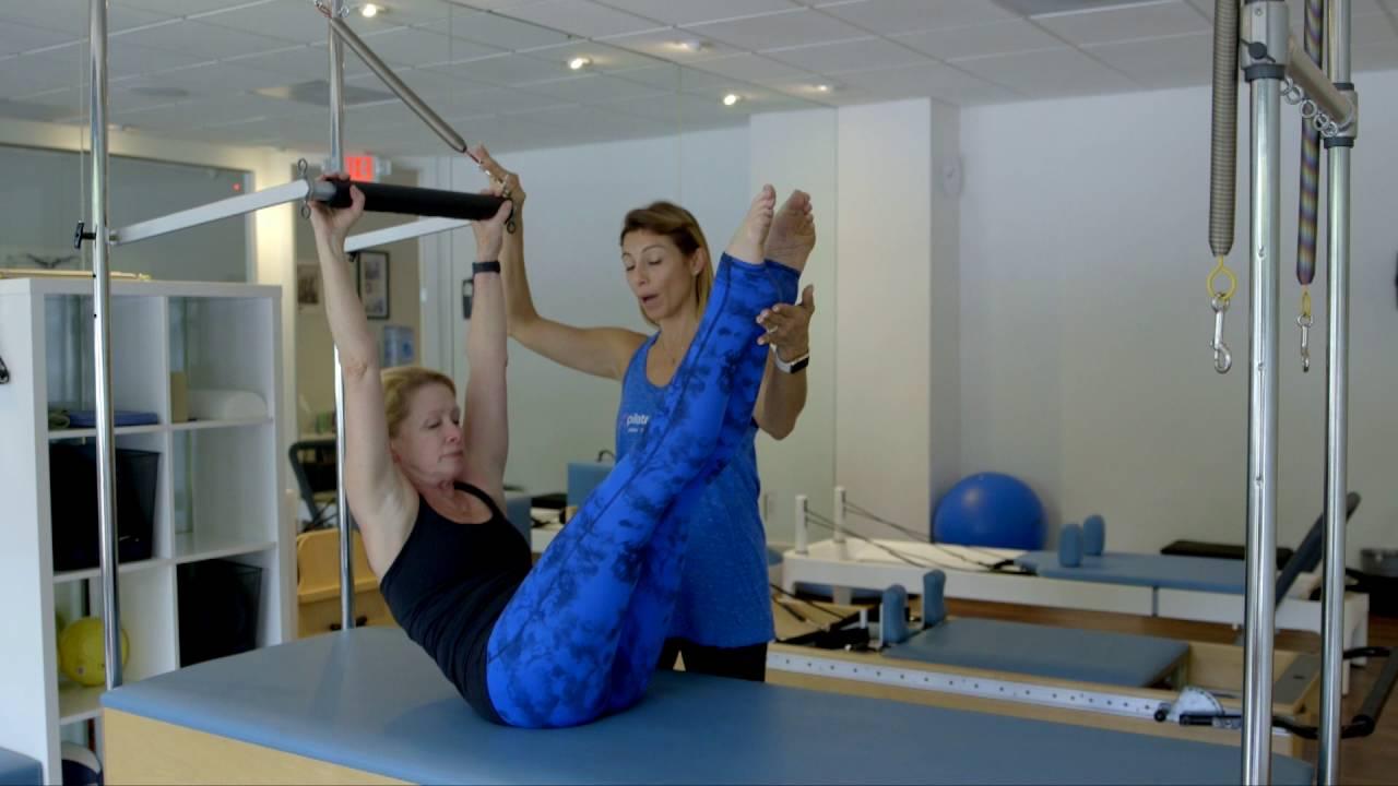 Pilates Exercises: Teaser_Trapeze Table