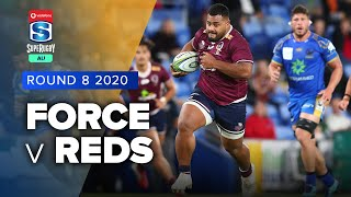 Force v Reds Rd.8 2020 Super rugby AU video highlights | Super Rugby AU Video Highlights