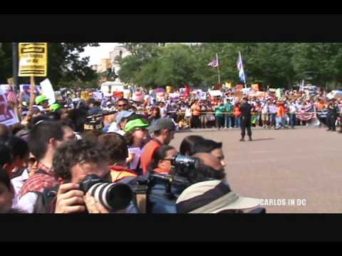 Arrested at White House: Immigration Rally May 1st 2010