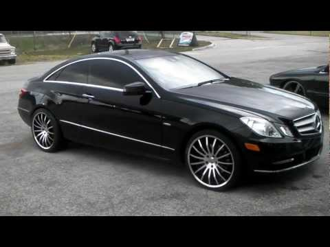 Dubsandtires.com 2012 Mercedes E-Class E-350 Coupe Review 20 inch Giavonni Moncelli Forgiato Rims