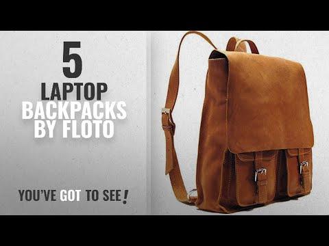 Top 10 Floto Laptop Backpacks [2018]: Floto Forum Pack, Leather Backpack in Saddle