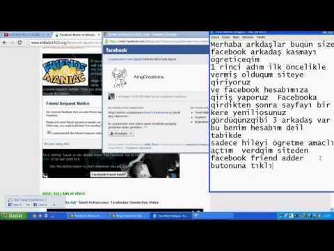 100% Çalışan Facebook Arkadaş Kasma Hİlesi - 2014 -